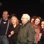 Maricla Boggio con Enrico Bagnato e alcuni suoi allievi
